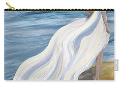 Woman Strolling On The Beach Carry-all Pouch