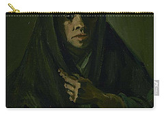 Carry-all Pouch featuring the painting Woman With A Mourning Shawl Nuenen, March - May 1885 Vincent Van Gogh 1853 - 1890 by Artistic Panda