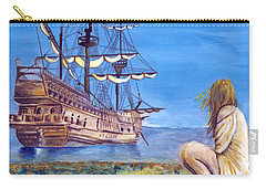 Woman With Spanish Ship Carry-all Pouch