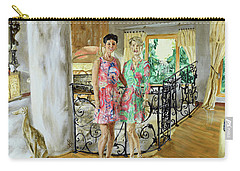 Carry-all Pouch featuring the painting Women In Sunroom by Ryan Demaree