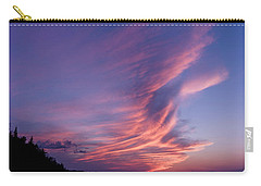 Carry-all Pouch featuring the photograph Wonderful Skeleton Lake Sunset by Darcy Michaelchuk