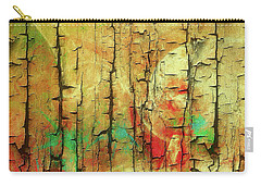 Carry-all Pouch featuring the digital art Wood Abstract by Deborah Benoit