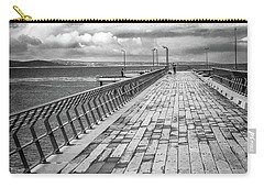 Carry-all Pouch featuring the photograph Wood And Pier by Perry Webster