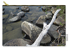 Wood And Rocks In Water Carry-all Pouch