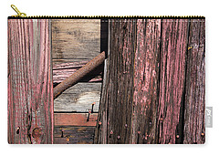 Carry-all Pouch featuring the photograph Wood And Rod by Karol Livote