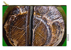 Carry-all Pouch featuring the photograph Wood Carved Fossil by Francesca Mackenney