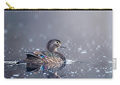 Carry-all Pouch featuring the photograph Wood Duck Hen by Bill Wakeley