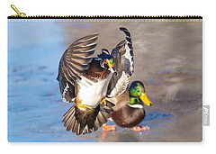 Wood Duck In Action Carry-all Pouch
