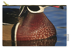 Wood Duck In Blue Carry-all Pouch