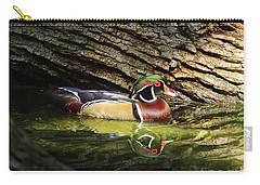 Wood Duck In Wood Carry-all Pouch