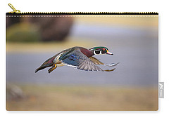 Wood Duck On The Move Carry-all Pouch
