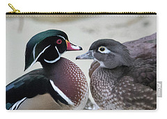Wood Duck Pair In Love Carry-all Pouch