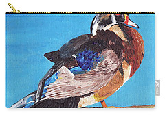 Carry-all Pouch featuring the painting Wood Duck by Rodney Campbell