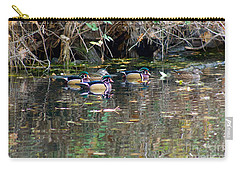 Wood Ducks In Autumn Carry-all Pouch by Sean Griffin