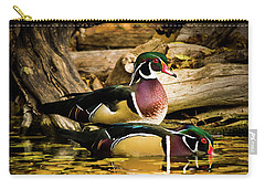 Wood Ducks In Autumn Waters Carry-all Pouch