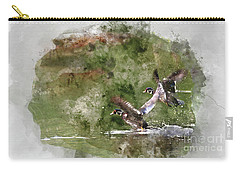Wood Ducks In Flight Carry-all Pouch