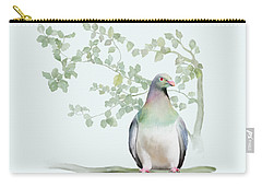 Carry-all Pouch featuring the painting Wood Pigeon by Ivana Westin