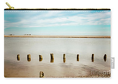 Carry-all Pouch featuring the photograph Wood Pilings In Shallow Waters by Colleen Kammerer
