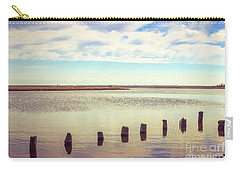 Carry-all Pouch featuring the photograph Wood Pilings In Still Water by Colleen Kammerer