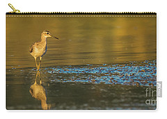 Wood Sandpiper At Sunset Carry-all Pouch by Jivko Nakev