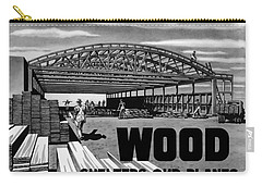 Carry-all Pouch featuring the painting Wood Shelters Our Planes - Ww2 by War Is Hell Store
