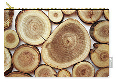 Wood Slices- Art By Linda Woods Carry-all Pouch by Linda Woods