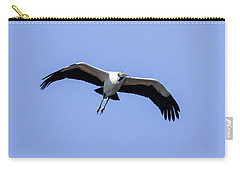 Carry-all Pouch featuring the photograph Wood Stork by Gary Wightman