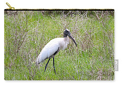 Wood Stork In The Marsh Carry-all Pouch by Carol Groenen