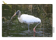 Wood Stork Through The Marsh Carry-all Pouch by Carol Groenen