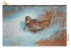A Woodcock In The Snow Carry-all Pouch