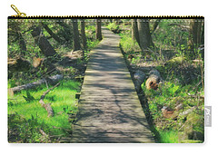 Wooded Path - Spring At Retzer Nature Center Carry-all Pouch by Jennifer Rondinelli Reilly - Fine Art Photography