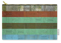 Wooden Abstract X  Carry-all Pouch