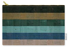Wooden Abstract Xl Carry-all Pouch