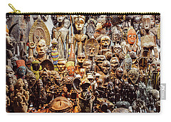 Wooden African Carvings Carry-all Pouch