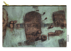 Symbol Mask Painting - 05 Carry-all Pouch by Behzad Sohrabi
