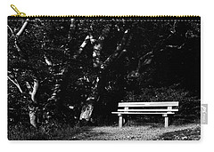 Wooden Bench In B/w Carry-all Pouch