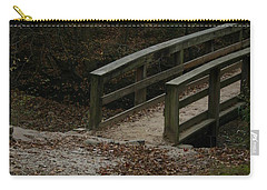 Carry-all Pouch featuring the photograph Wooden Bridge by Kim Henderson
