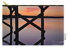 Wooden Bridge Silhouette At Dusk Carry-all Pouch