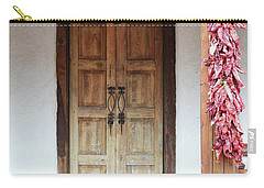 Carry-all Pouch featuring the photograph Wooden Chili Door by Andrea Hazel Ihlefeld