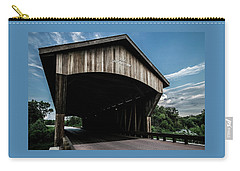 Wooden Covered Bridge In Rural Illinois Carry-all Pouch
