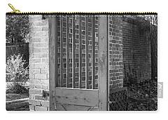 Wooden Garden Door B W Carry-all Pouch