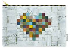 Carry-all Pouch featuring the digital art Wooden Heart 2.0 by Michelle Calkins