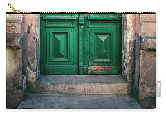 Wooden Ornamented Gate In Green Color Carry-all Pouch by Jaroslaw Blaminsky