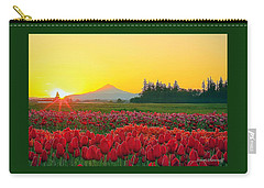 Wooden Shoe Tulip Fields Sunrise Carry-all Pouch