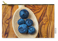 Wooden Spoon And Blueberries Carry-all Pouch by Garry Gay