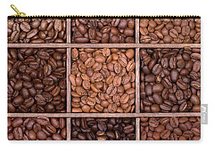 Wooden Storage Box Filled With Coffee Beans Carry-all Pouch