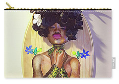 Carry-all Pouch featuring the mixed media Woodgoddess by Baroquen Krafts