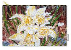 Carry-all Pouch featuring the painting Woodland Daffodils by Judith Rhue