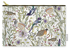 Woodland Edge Birds Carry-all Pouch by Jacqueline Colley