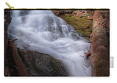 Carry-all Pouch featuring the photograph Woodland Falls 2017 by Bill Wakeley